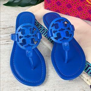 Tory Burch Shoes - Tory Burch NIB Miller Blue Embossed Sandal 6M $198